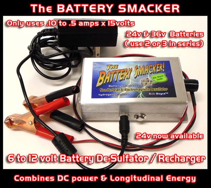 Battery Smacker Electrical Wiring Batteries The Bob Boyce Is A 6 To 12 Volt De Sulfator Rejuvenator And Re Charger All In One It Only